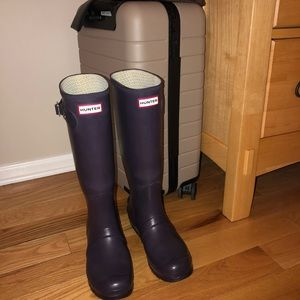 Hunter Original Tall Boots - US Size 7 Dark Purple